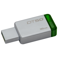 DataTraveler 50, Kingston flash disk drive 16GB, boja sivo-zelena, 16GB